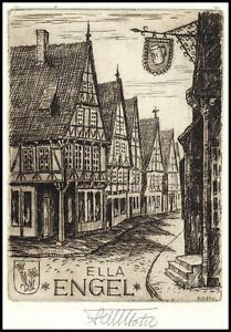 Botel Celle Fritz C3 Exlibris Bookplate Architecture s565 - <span itemprop=availableAtOrFrom> Dabrowa, Polska</span> - Botel Celle Fritz C3 Exlibris Bookplate Architecture s565 -  Dabrowa, Polska