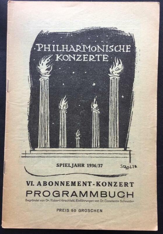 Felix Weingartner, Vienna Philharmonic, Concert Programme, Cesar Franck, 1937