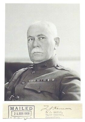 WW I U.S General Francis Kernan AEF Staff Officer For Pershing France Autograph