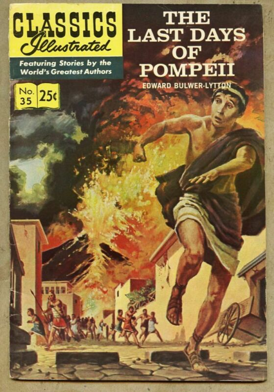 Classics Illustrated #35-1970 fn 6.0 5th edition Jack Kirby Last Days Of Pompeii