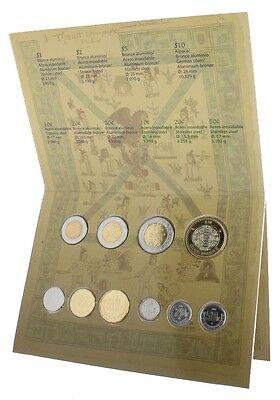 Mexico 10 Cent - $10 Pesos 10 Pieces - PCS, Coin Set, 2009,Mint,Juego de Monedas