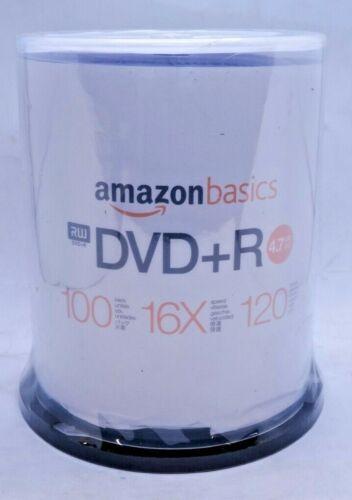 Amazon Basics RW DVD+R 4.7GB 16x 120 Min. Spindle Of 100 New