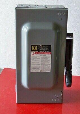 H362 Square D 60 Amp 600 Volt Fusible Safety Switch Series F05 Nema1