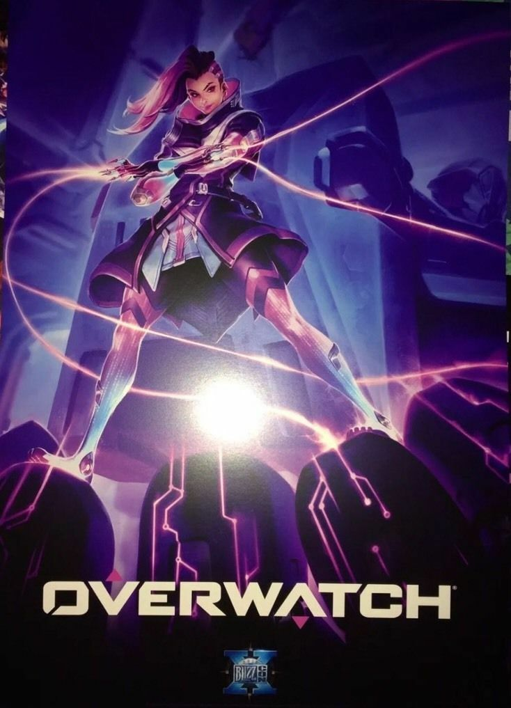 Blizzcon 2016 Sombra Overwatch Poster Print Rare - Blizzard