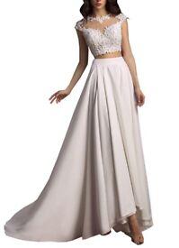 2 piece wedding dress Ivory