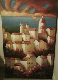 Lanscape oil painting on canvas