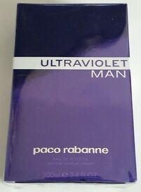 Paco Rabanne Ultraviolet Man - Eau De Toilette - 100ml - Spray - Brand New Sealed