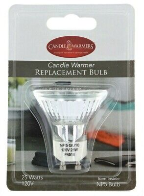 CANDLE WARMERS ETC Replacement Bulb NP5 GU-10 120V 25W MR16 Halogen NEW
