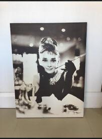 Audrey Hepburn Canvas Breakfast At Tiffany's