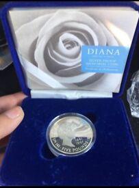 Princess Diana memorial £5 coin