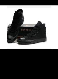 Brand new black high top converses