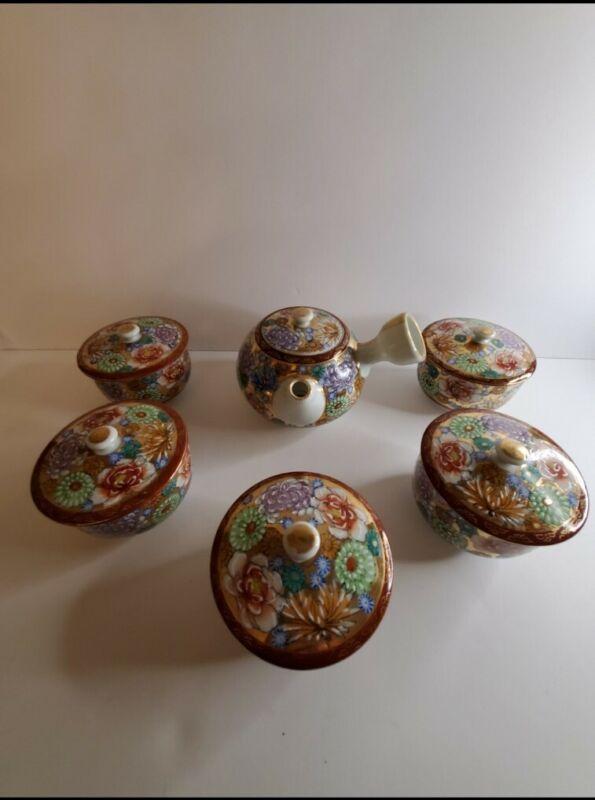Vintage Kutani Ceremonial Tea Set
