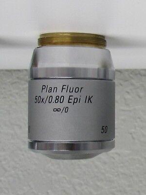 Leica Plan Fluor 50x0.80 Epi Ik 0 Microscope Objective