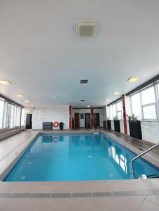 Spacious 3 1/2, renovated building with pool, sun deck, parking