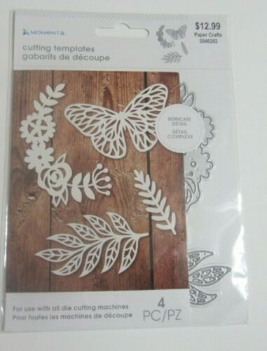 Momenta Intricate Detail Cutting 4 piece Die Set: butterfly leaves #2046282 NIP