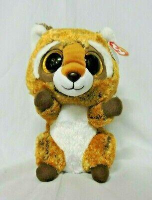 NEW Rusty Raccoon Beanie Boos Plush Stuffed Animal Medium 9