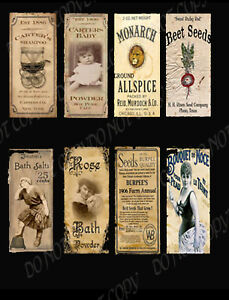Primitive, Vintage Labels Powder & Soap  - #FH284