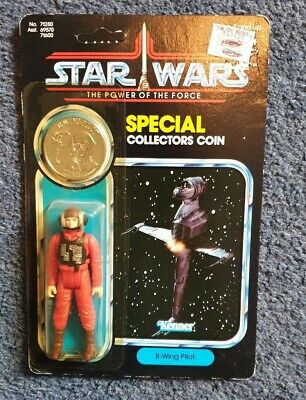 NEW 1984 Vintage Star Wars ✧ B-Wing Pilot ✧ Kenner POTF.Good condition.