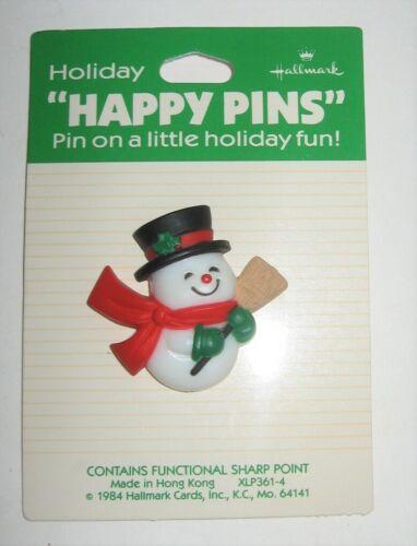 "Hallmark Snowman Pin ""Happy Pins"" 1984"