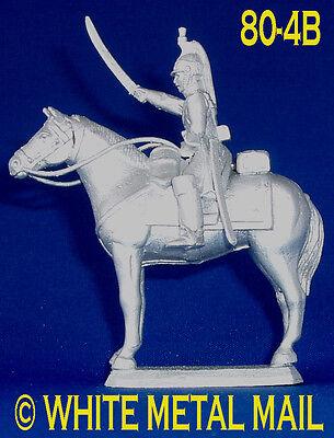 Napoleonic Casting 80-4B Empress Dragoon (Trooper & Horse) Raised Sword
