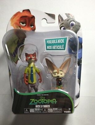 Zootopia Figure Nick And Finnick Poseable Disney Tomy