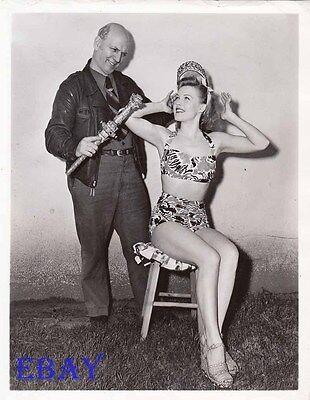 Gale Robbins Busty Leggy Vintage Pho  Jeff Davis King Of Hoboes Of America Inc
