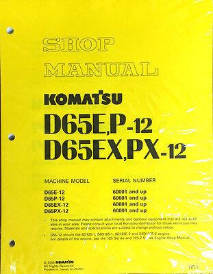 Komatsu D65ep-12 D65expx-12 Dozer Bulldozer Service Shop Repair Manual