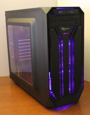 NEW Gaming PC Desktop Computer AMD QUAD CORE 3.7 GHz 500GB 8GB RAM WIN10 WIFI