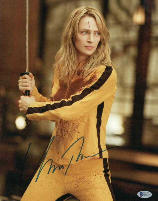 UMA THURMAN SIGNED 11X14 PHOTO KILL BILL AUTHENTIC AUTOGRAPH BECKETT COA G