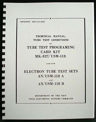 133 Page 1968 Tube Test Conditions For Hickok Cardmatic Tube Testers Anusm-118