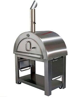 """New XL Size Wood Fired Outdoor Stainless Steel Pizza Oven BBQ Grill   44"""" Wide!"""