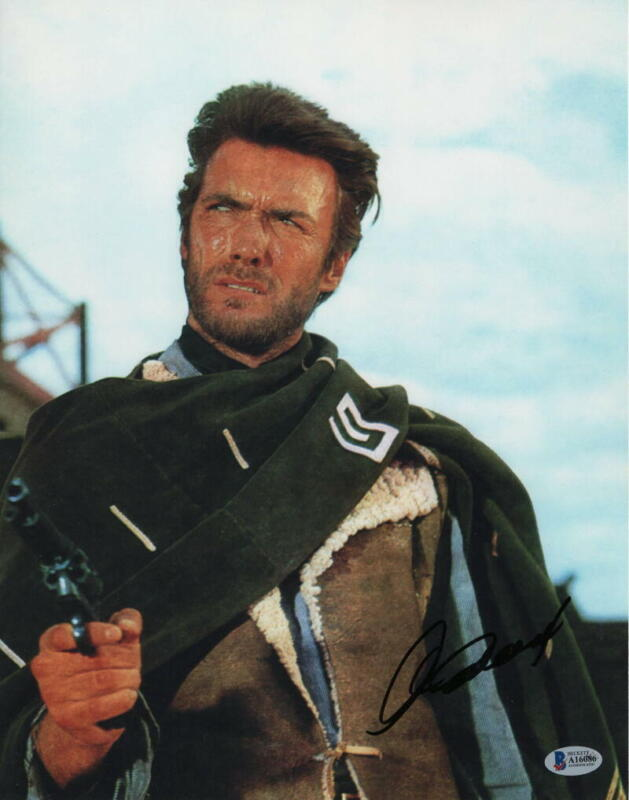 CLINT EASTWOOD SIGNED AUTOGRAPH 11x14 PHOTO - RARE IMAGE, HOLLYWOOD ICON BECKETT