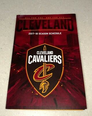 2017-18 Cleveland Cavaliers Official NBA Pocket Schedule