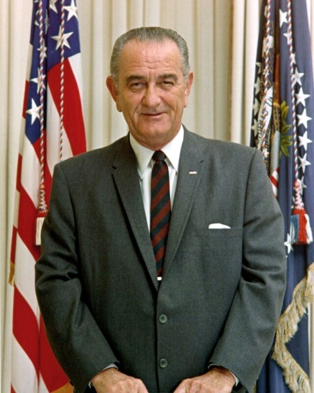 President Lyndon B. Johnson LBJ 8 x 10 Portrait Photo Photograph Picture