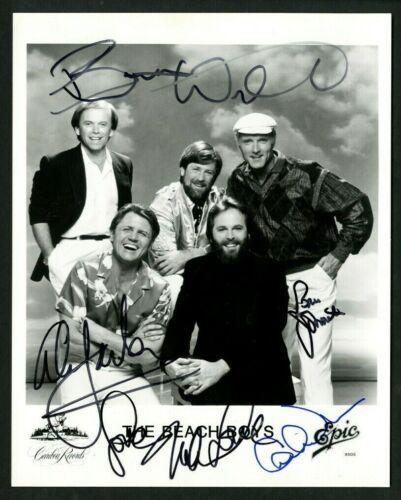 THE BEACH BOYS WILSON LOVE JARDINE Signed (5) Autographed 8 x 10 Photo - PSA DNA