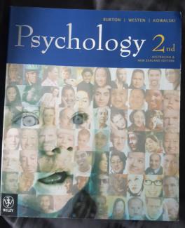 Psychology (2nd edition) - Burton, Westen and Kowalski