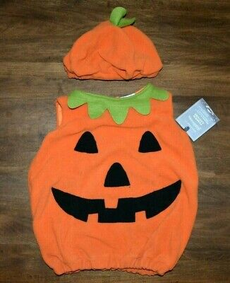 Pottery Barn Kids Baby Pumpkin Halloween Costume 2T 3T NEW Tags Jack O Lantern