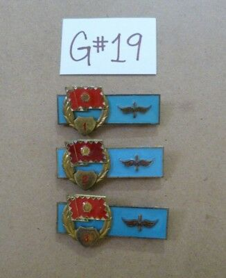 Early 1900s Hungarian Air Force Air Crew Enamel Badges 1 2 3 Class -G#19