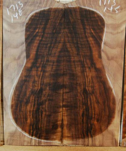 super wild curly black walnut tonewood guitar luthier set back and sides