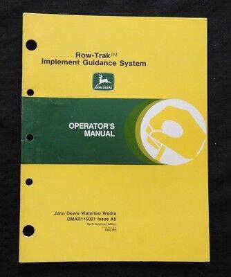 John Deere 8010 8020 8030 8040 Tractor Row-trak Guidance System Operators Manual