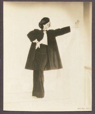 Marlene Dietrich 1930 Travis Banton Fashion DBL WT Photo Devil Is A Woman J5501