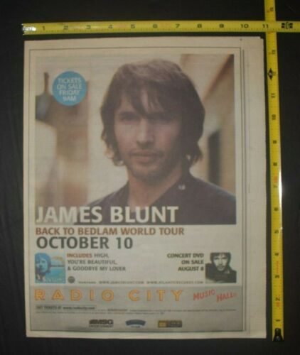 James Blunt 2006 Color Concert Ad Radio City NYC Back To Bedlam World Tour