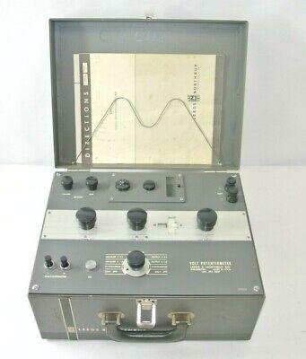 Leeds Northrup Volt Potentiometer Galvanometer Cat. No. 8687