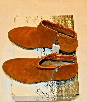 Ladies Kensie Ghita Ankle Boots - Chestnut Suede - UK 5