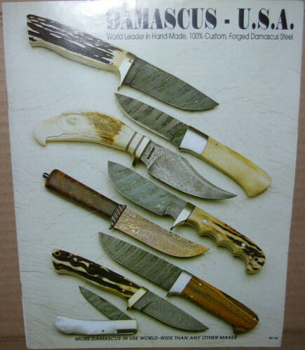 Damacus-USA Knife Knives Catalog From About 1994 Pics of Yeager Moran Reagan