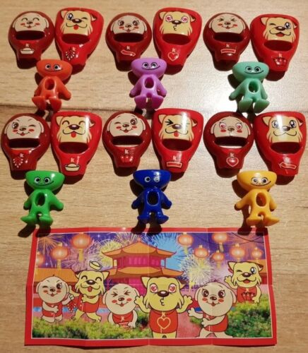 Komplettsatz Year of the Dog Kinder Joy aus China mit allen  BPZ