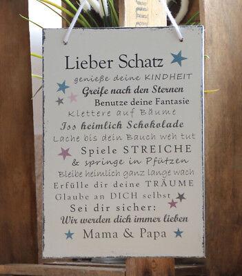 Wandschild / Spruchschild - Lieber Schatz