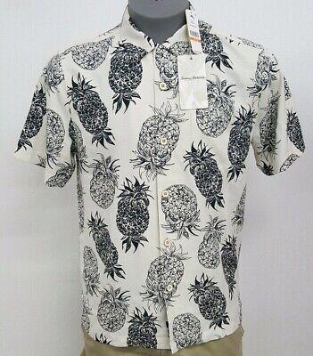 Tommy Bahama Pineapple Pinata Coconut Cream S/S Men's Shirt NWT $125 Choose (Pineapple Pinata)