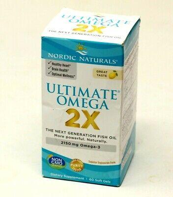 Nordic Naturals Ultimate Omega 2X Supplement - 60 Sofgels