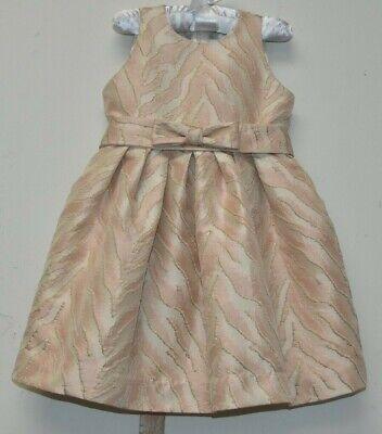 Neu Helena Bergdorf Goodman Kleid Pink Gold Brokat Metallisch 4 T